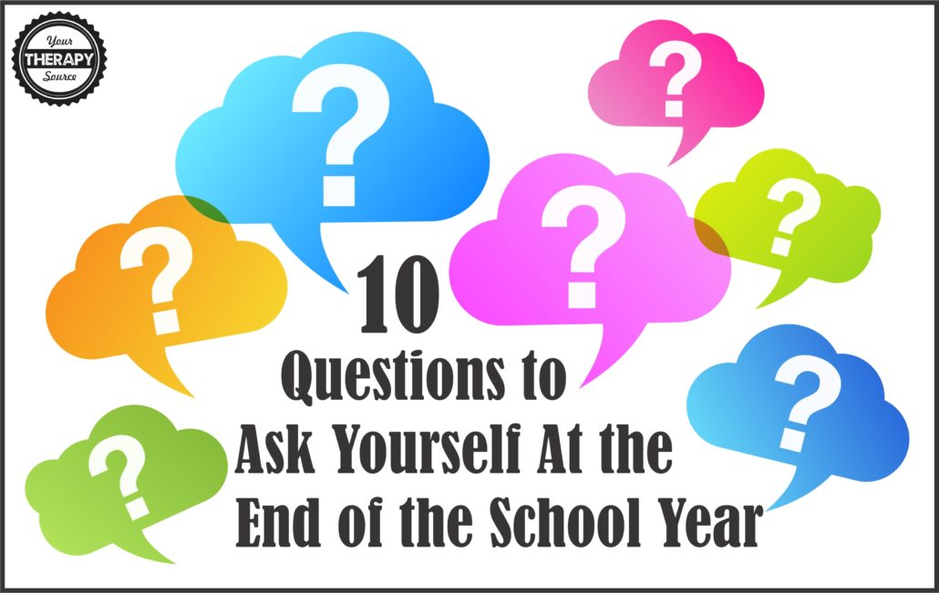 10 Self Reflection Questions to Ask Yourself at the End of the School Year - what did you accomplish, how can you improve and more!