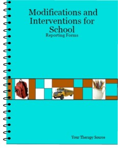 Modifications and Interventions for School available at  http://yourtherapysource.com/modsdownload.html