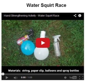 water squirt race at http://yourtherapysource.com/videosquirt.html