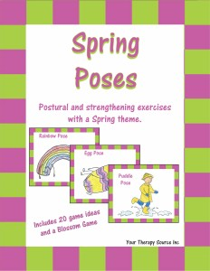 spring poses from http://www.yourtherapysource.com/springposes.html