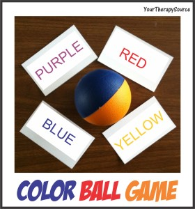 color ball game for self regulation skills from www.YourTherapySource.blogspot.com