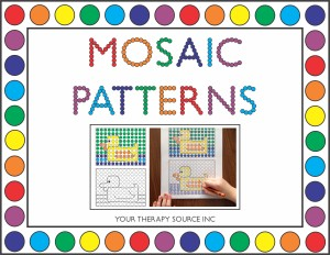 Mosiac Patterns from http://www.yourtherapysource.com/mosaic.html
