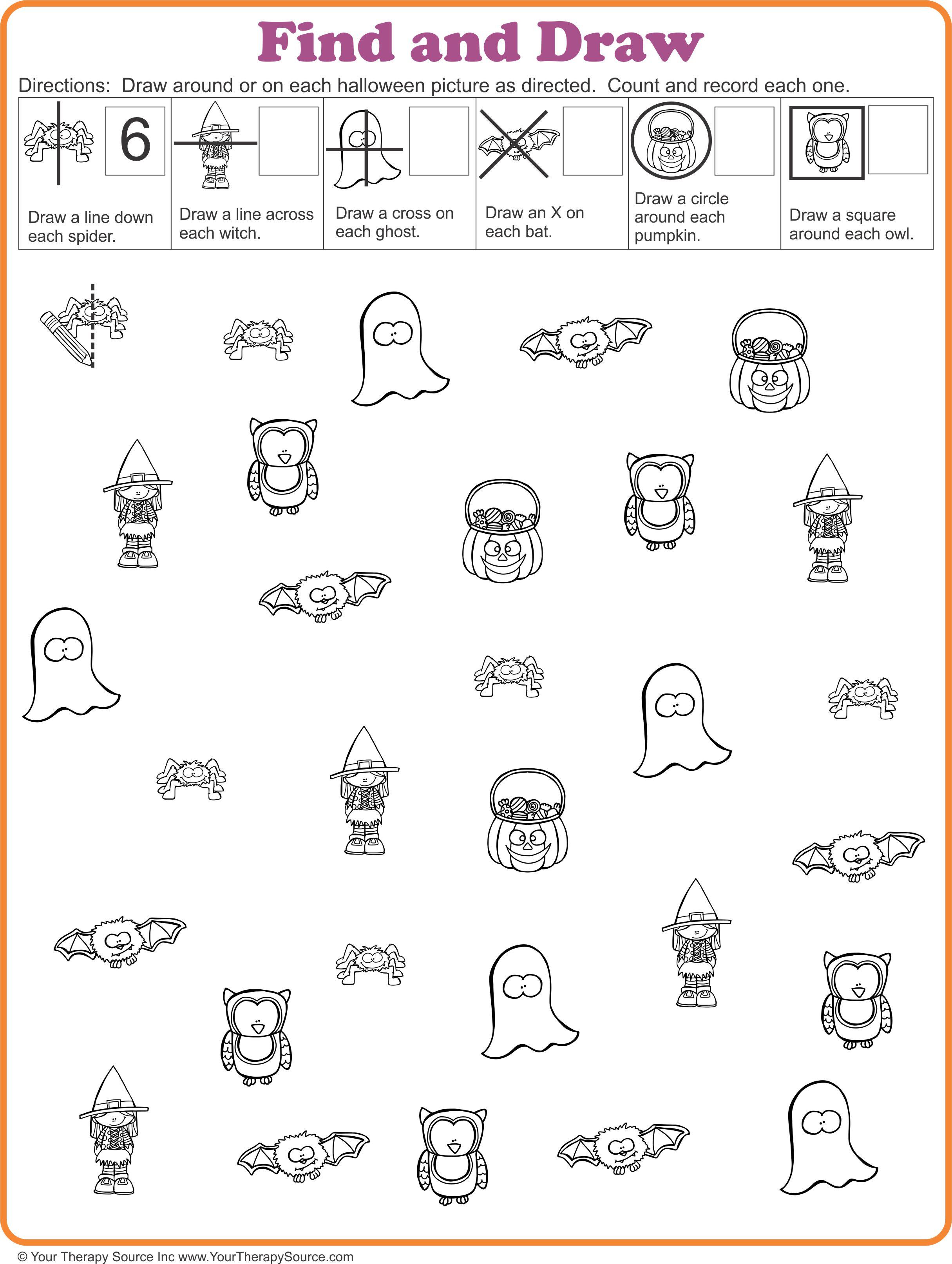 16 FREE Halloween Printables - Sensory Motor Skills - Your ...