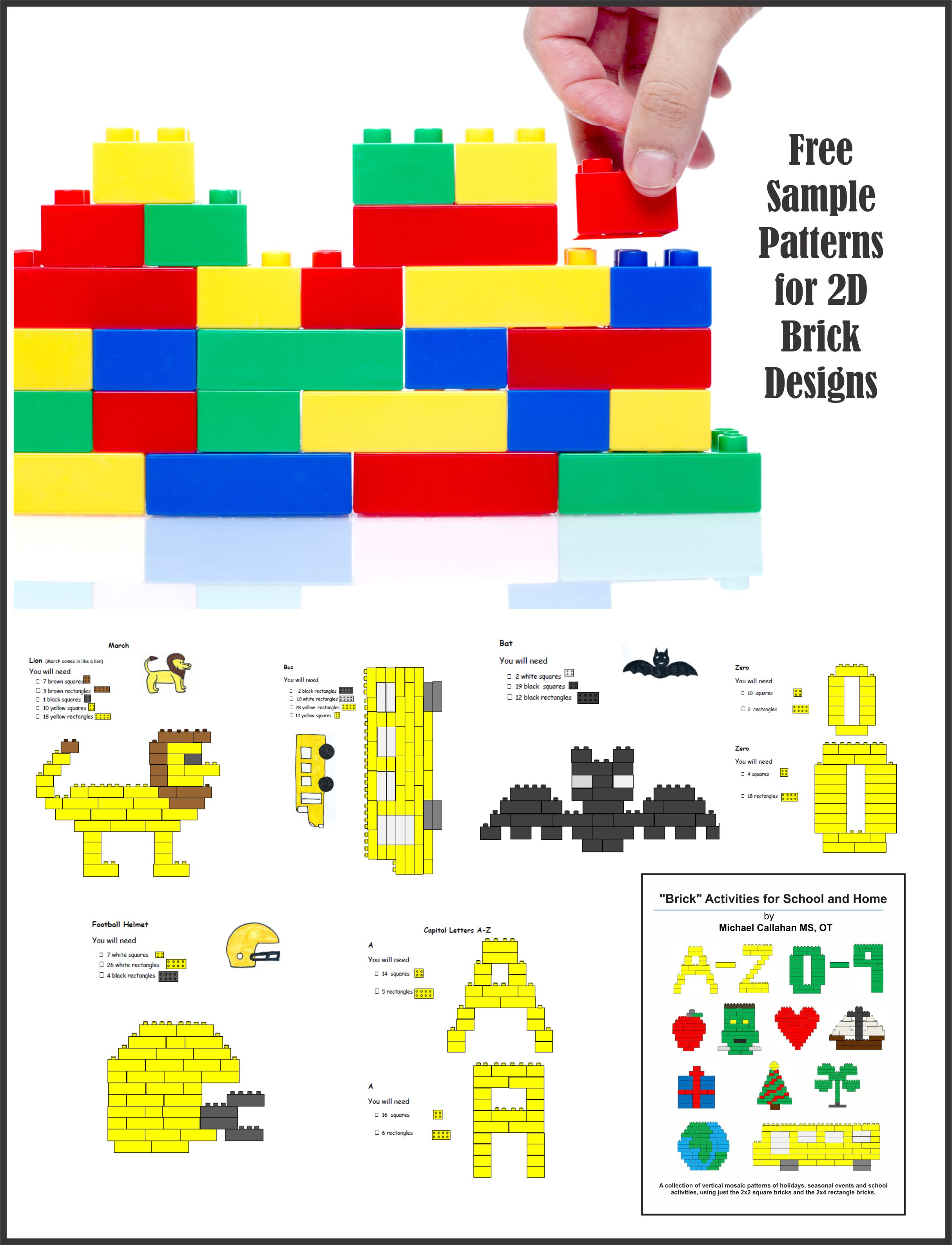 Brick Design Activity Pages for School and Home - Your Therapy Source