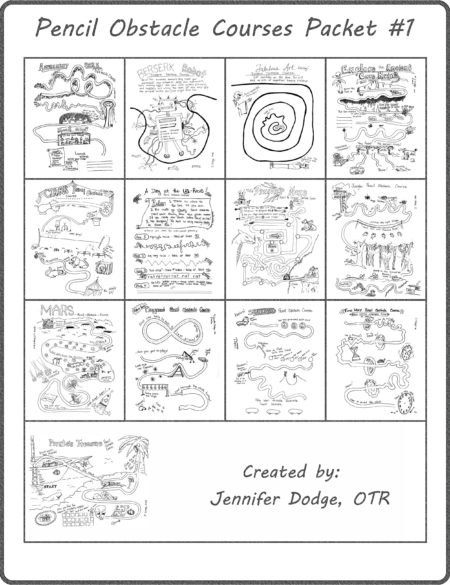 Pencil Obstacle Courses Packet