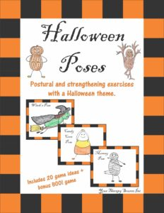 Halloween Poses - Postural and Strengthening Exercises with a Halloween Theme