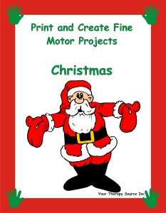 Print and Create Fine Motor Projects – Christmas