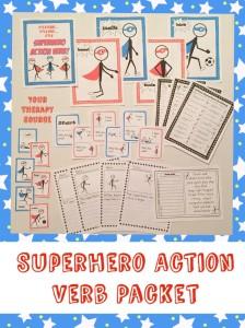 Superhero Action Verb Packet
