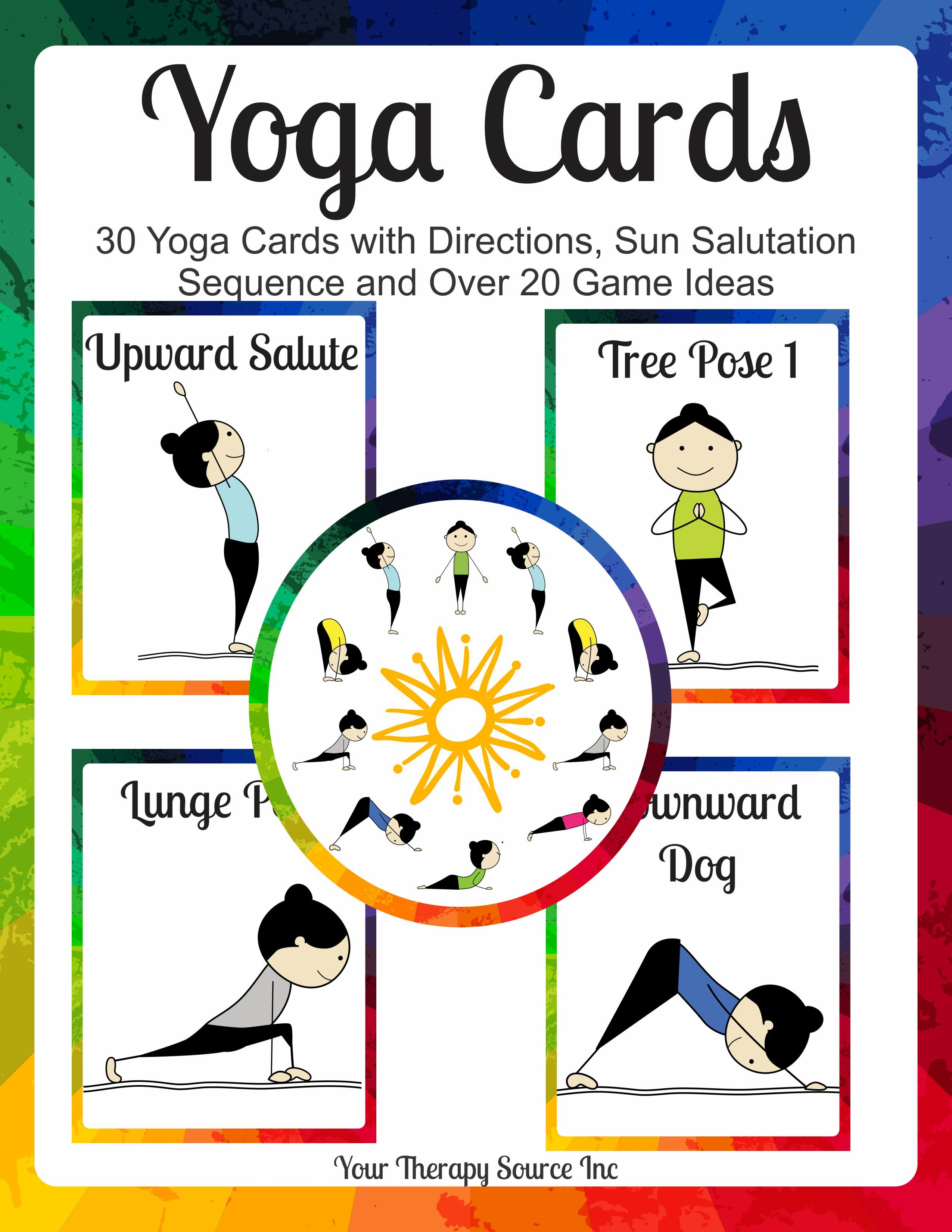 This is a photo of Refreshing Yoga Cards Printable