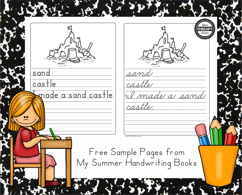 My Summer Handwriting Book Freebie Pages