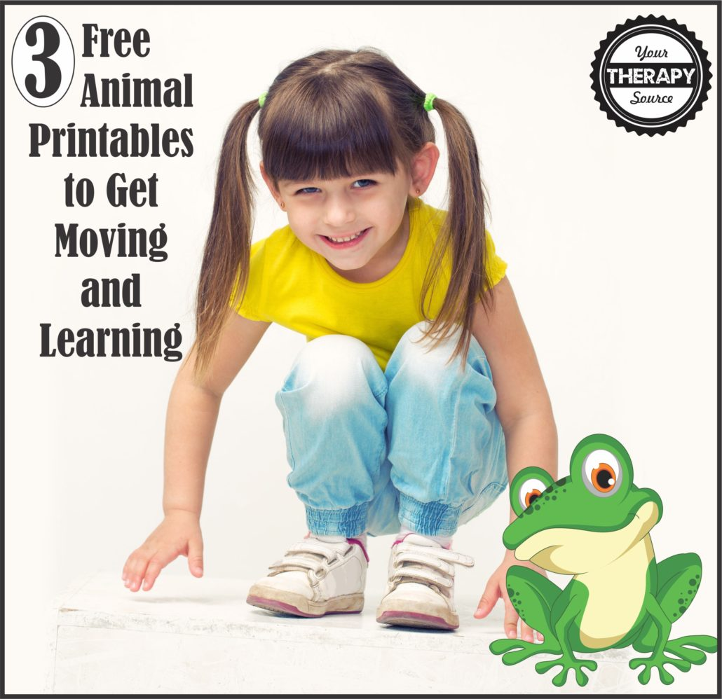 3 Free Animal Printables to Get Moving and Learning