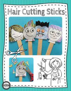 Hair Cutting Sticks Scissor Skills