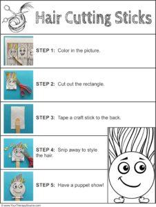 hair cutting sticks scissor freebie