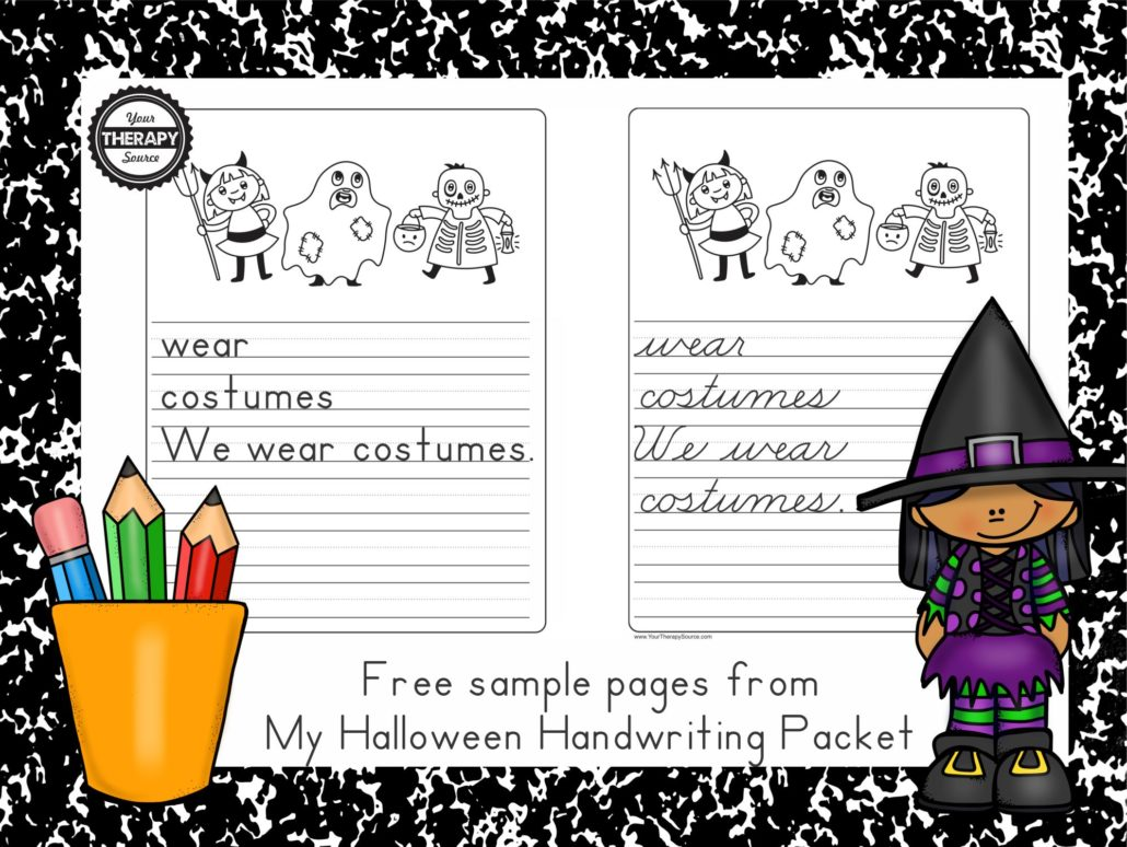 My Halloween Handwriting Freebies
