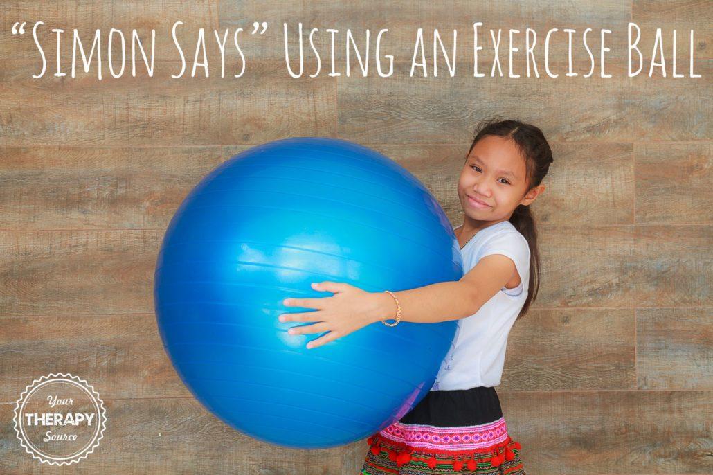 Simon Says Exercise Ball Style