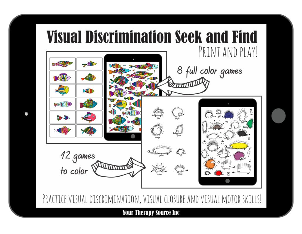 visual discrimination seek and find Your Therapy Source