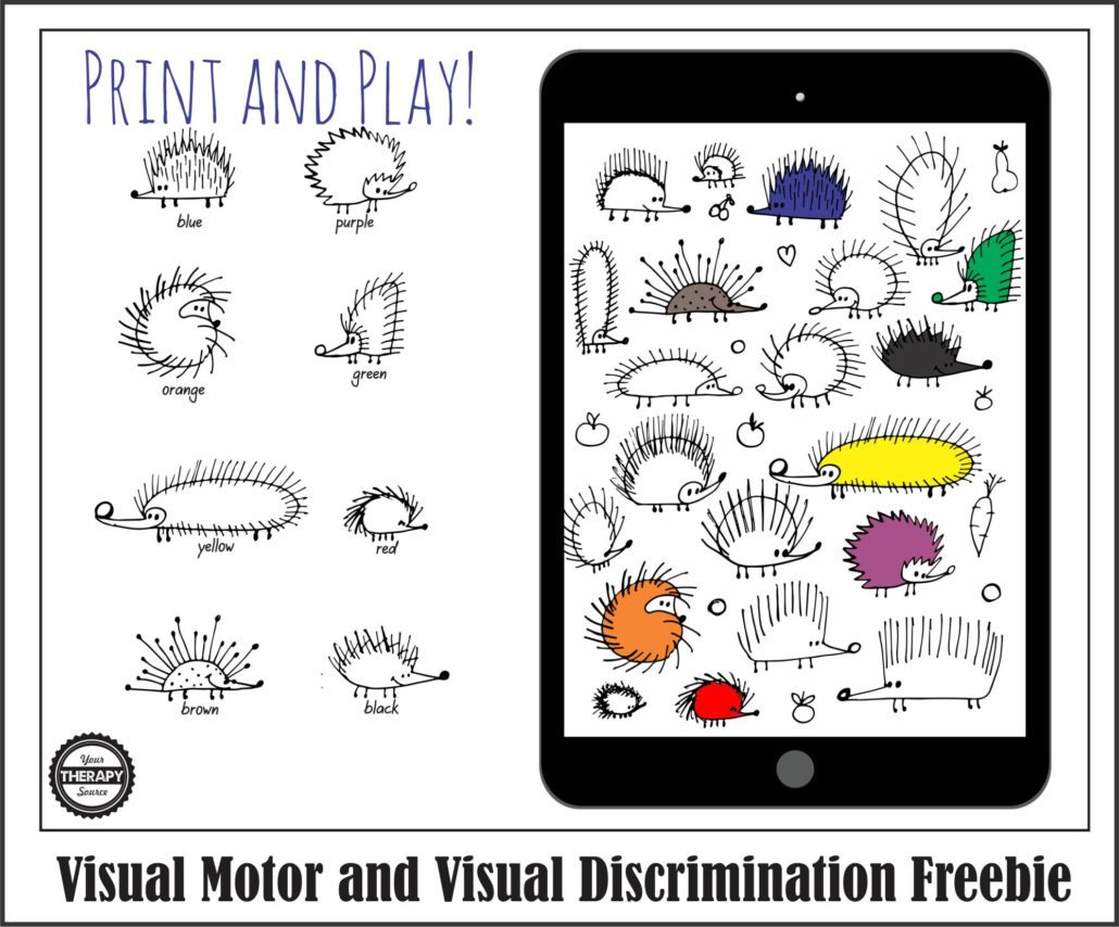 visual-discrimination-and-visual-motor-freebie-hedgehogs