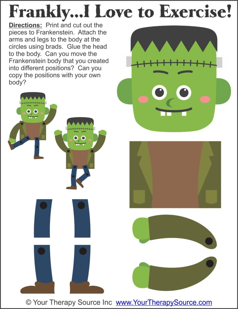 Frankenstein sensory motor activity