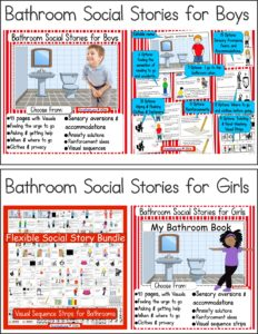 Bathroom Social Stories for Boys OR Girls YTS