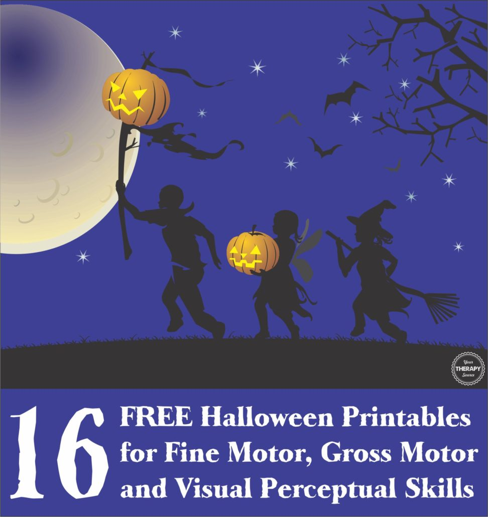 16 FREE Halloween Printables Sensory Motor from Your Therapy Source