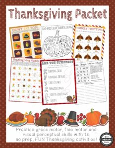 thanksgiving packet Your Therapy Source