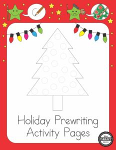 holiday-prewriting-activity-pages