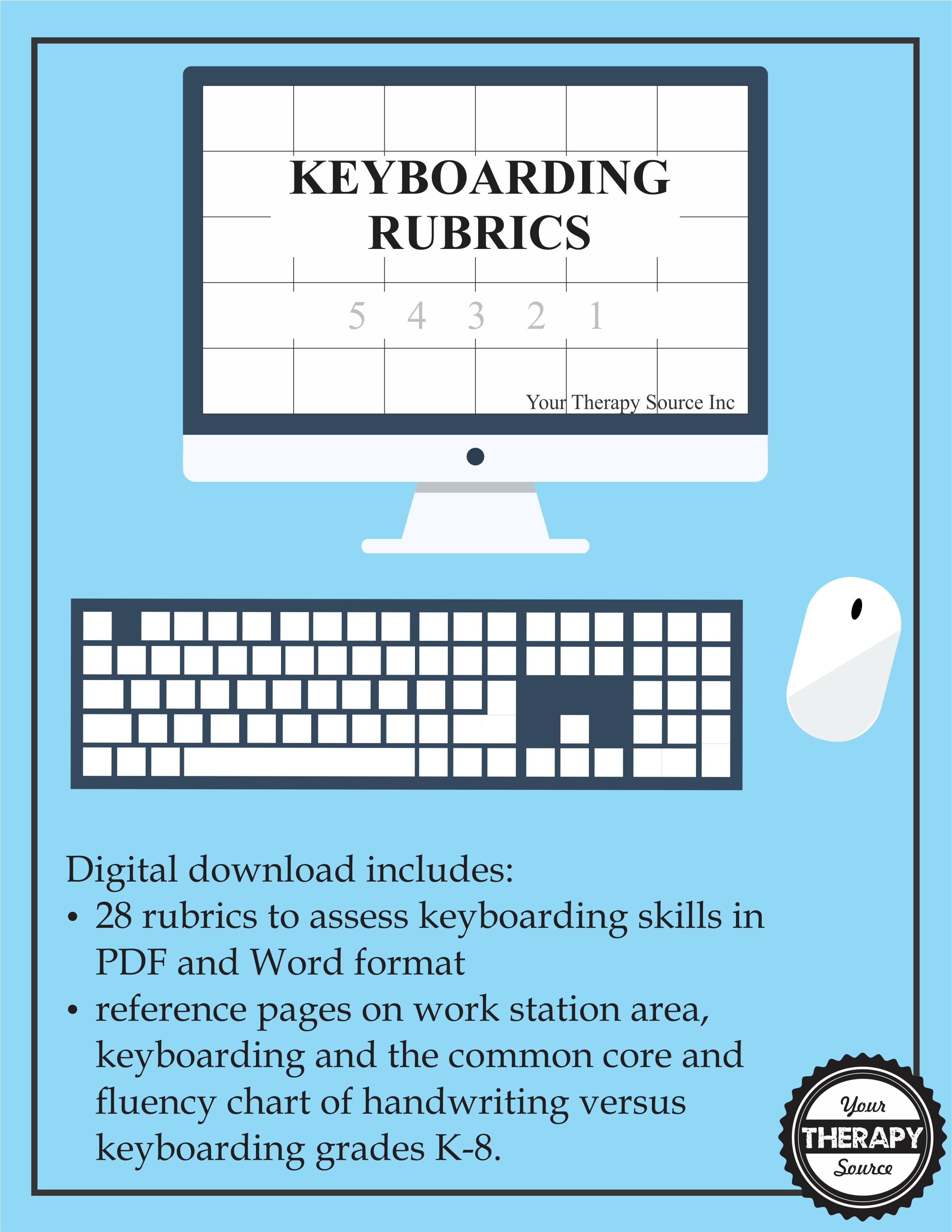 Keyboarding Rubrics from Your Therapy Source Inc