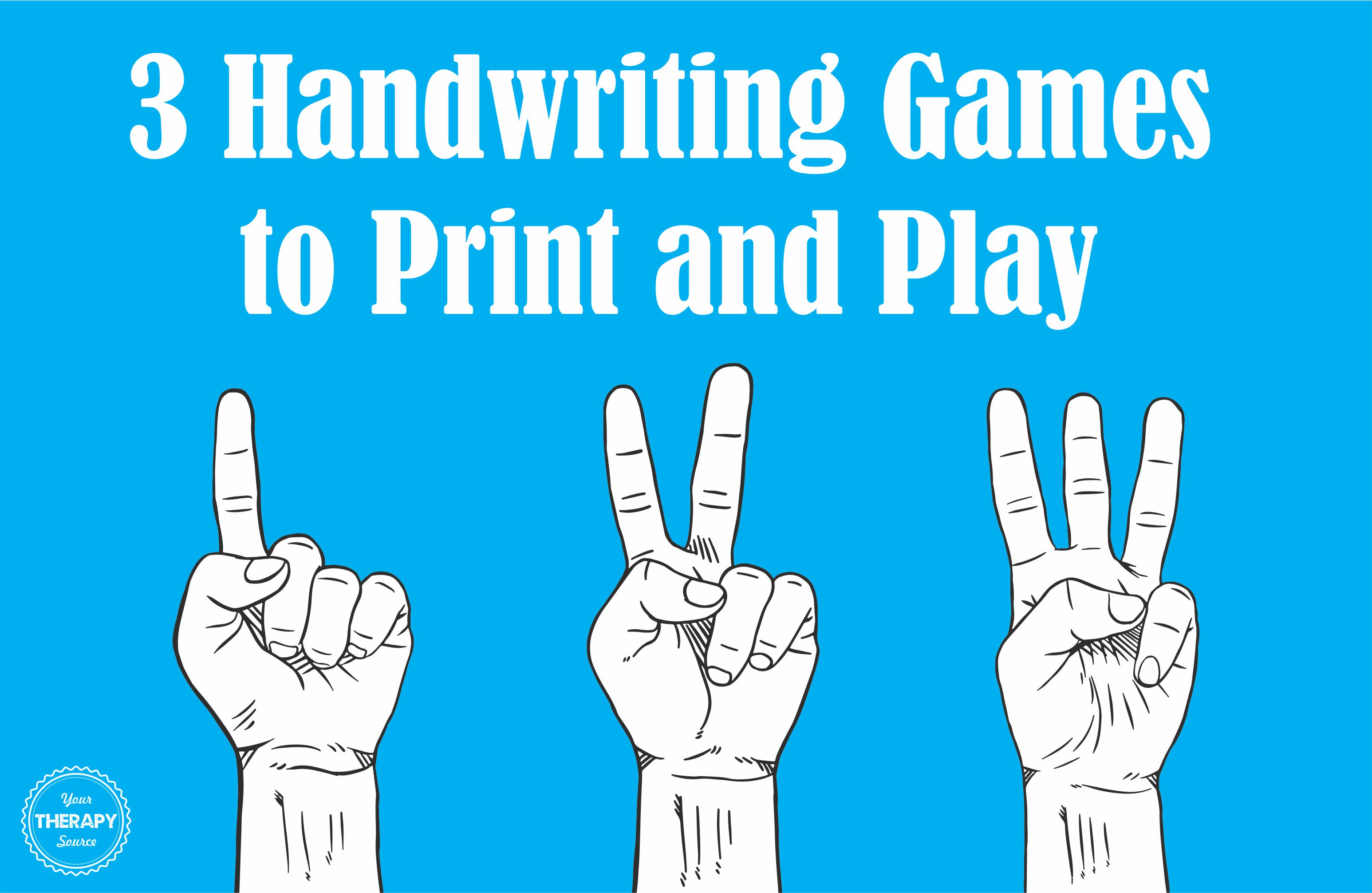 handwriting games to play