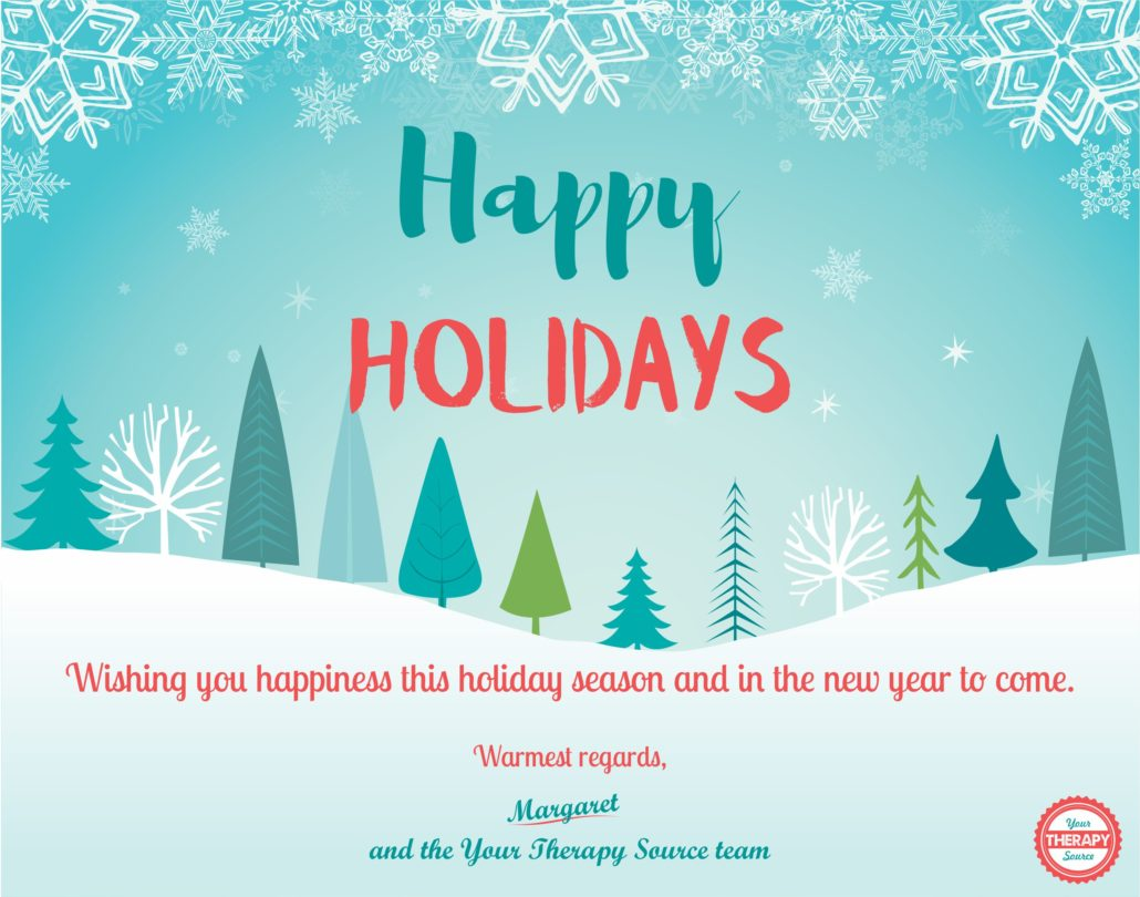 Happy Holidays from Your Therapy Source