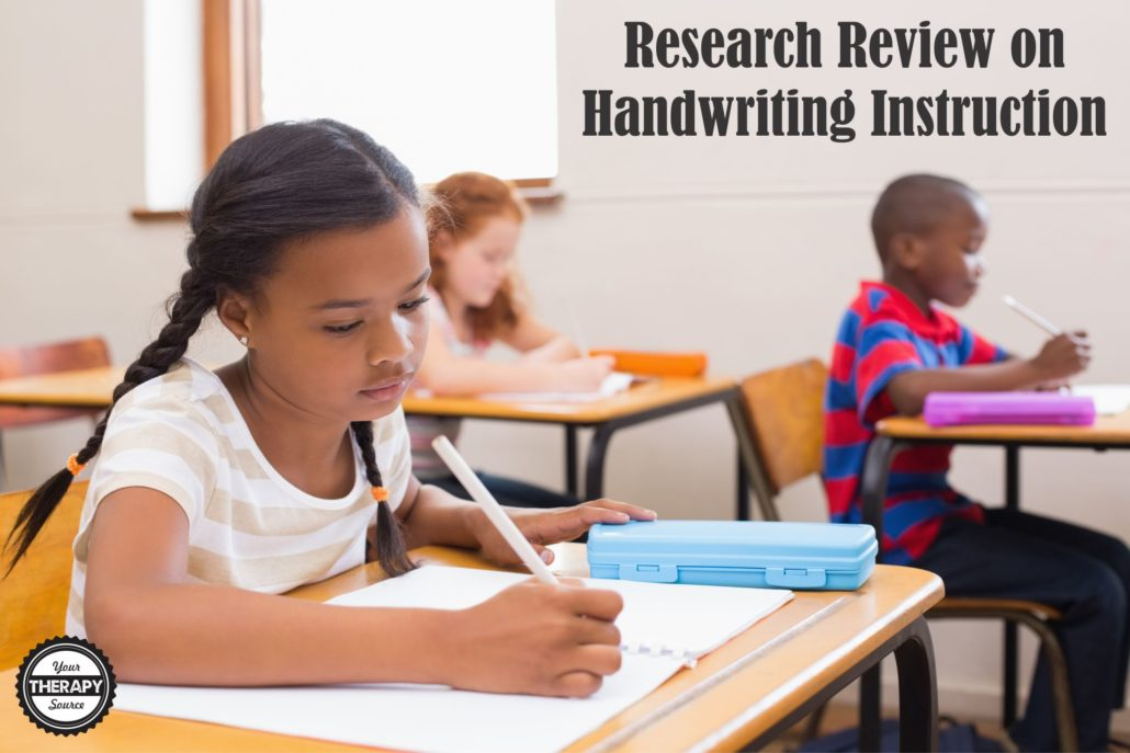 Research Review on Handwriting Instruction