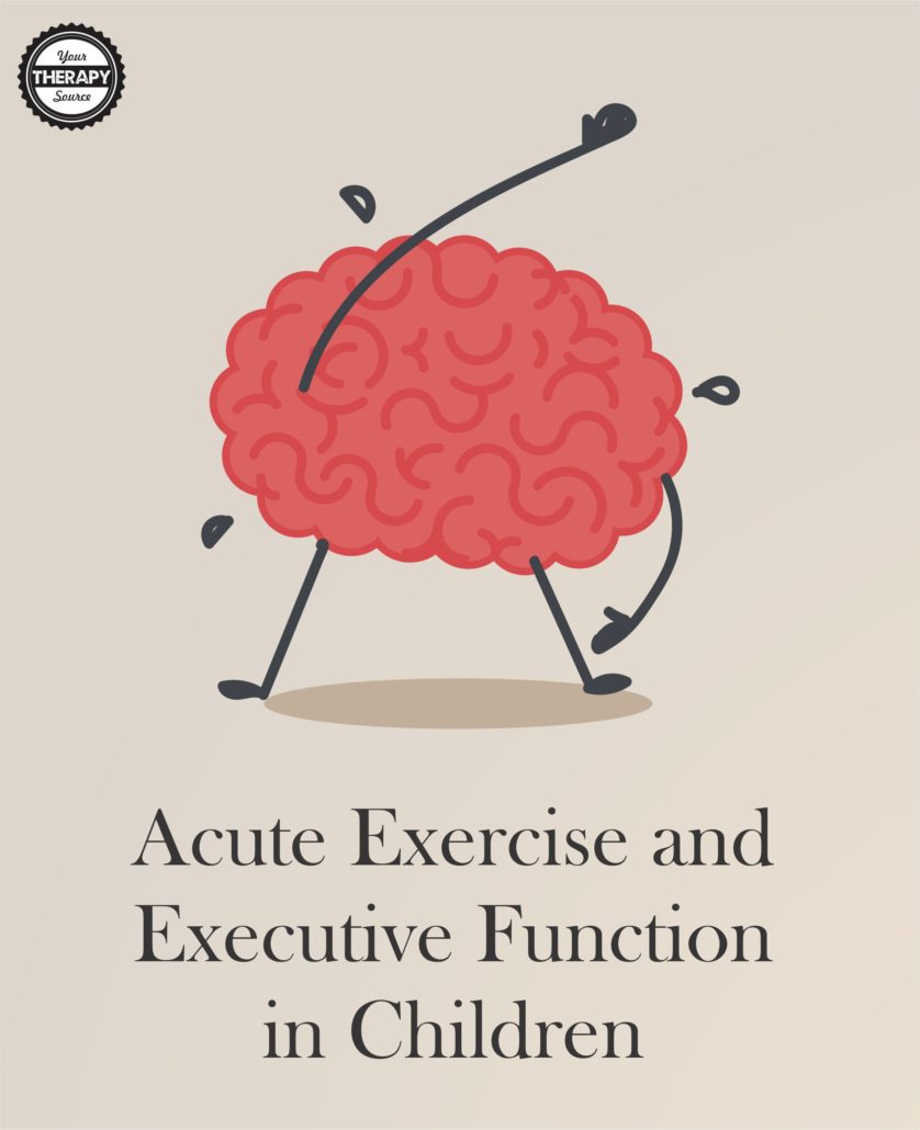 Acute Exercise and Executive Function in Children