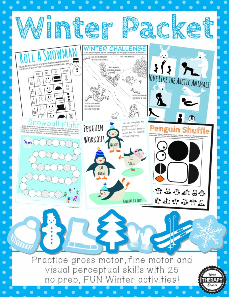 Your therapy source yourtherapysource january 2017 winter packet practice fine motor gross motor visual perceptual activities with this no prep fun winter themed packet find out more information fandeluxe Image collections