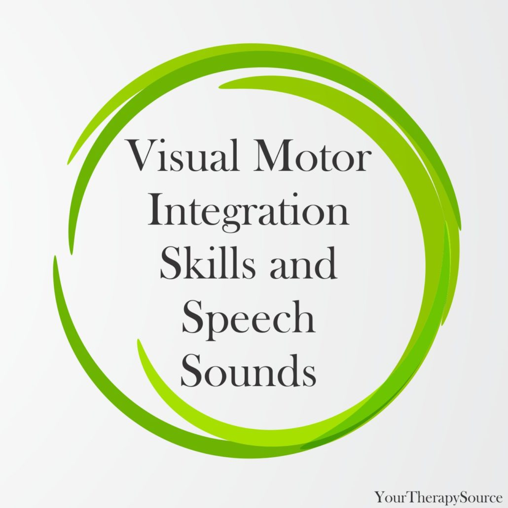 Visual Motor Integration Skills and Speech Sounds