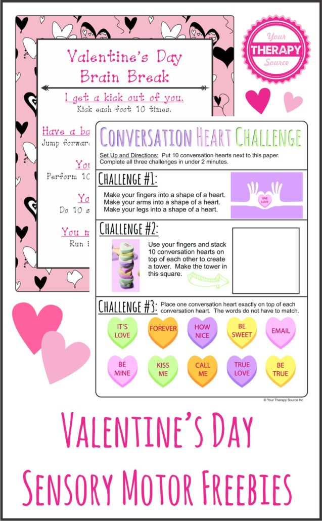 Valentine Sensory Motor Packet Freebie