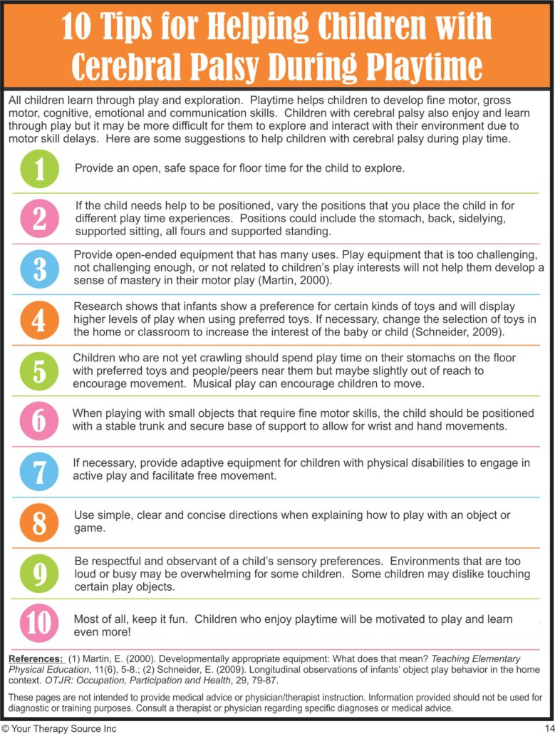 10 Tips to Help Children with CP During Playtime