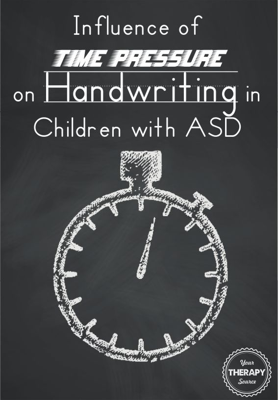 Influence of Time Pressure on Handwriting in Children with ASD