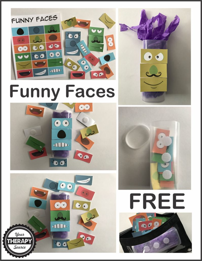 Funny Faces Freebie from Your Therapy Source