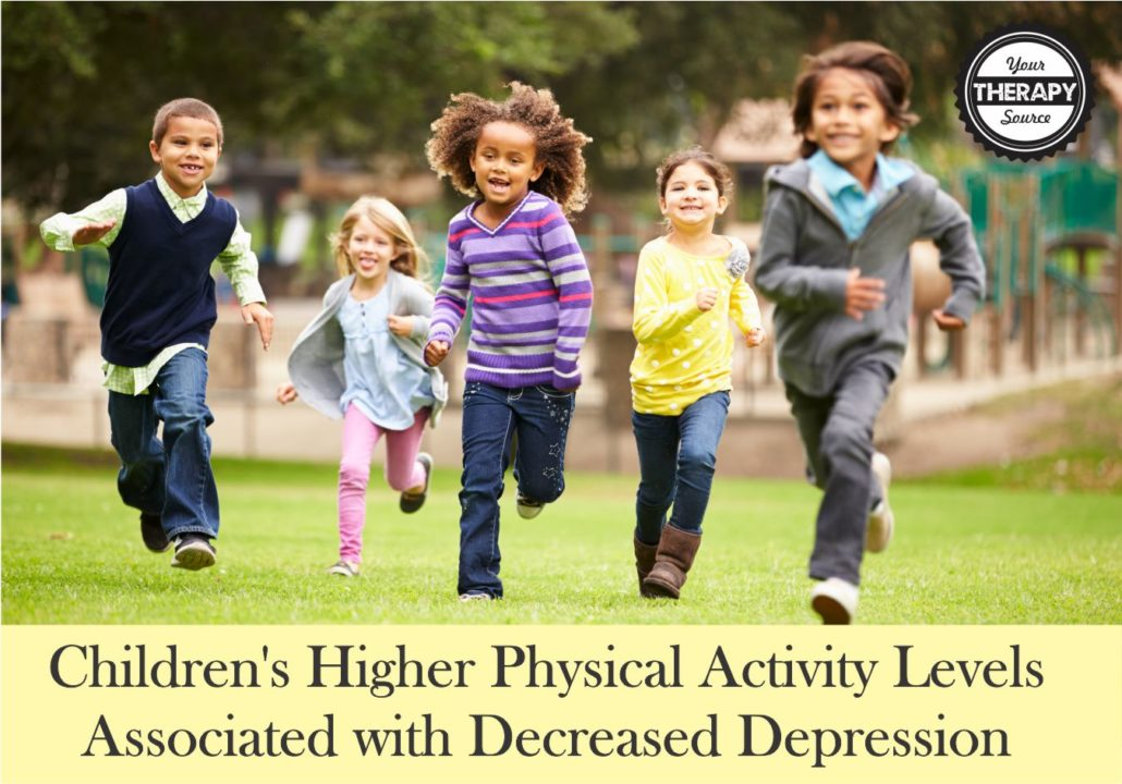 Children's Higher Physical Activity Levels Associated with Decreased Depression
