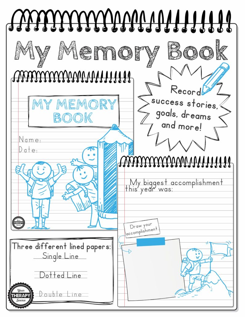 My Memory Book Handwriting Drawing