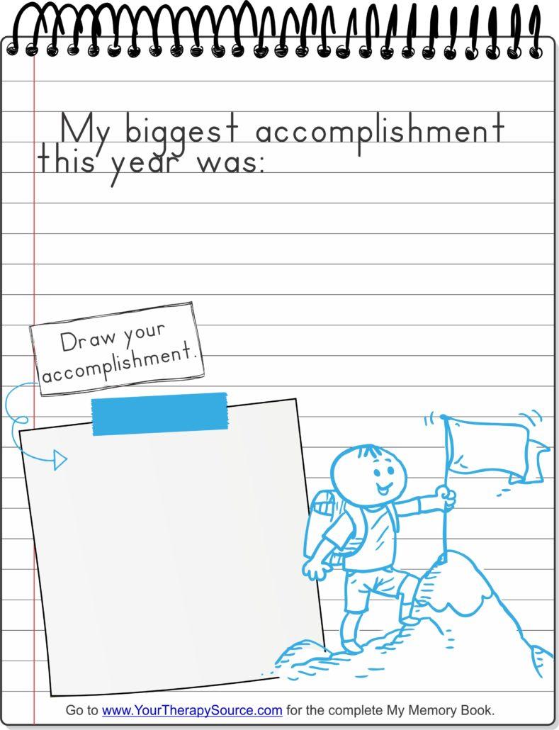 My Memory Book Handwriting Drawing Practice