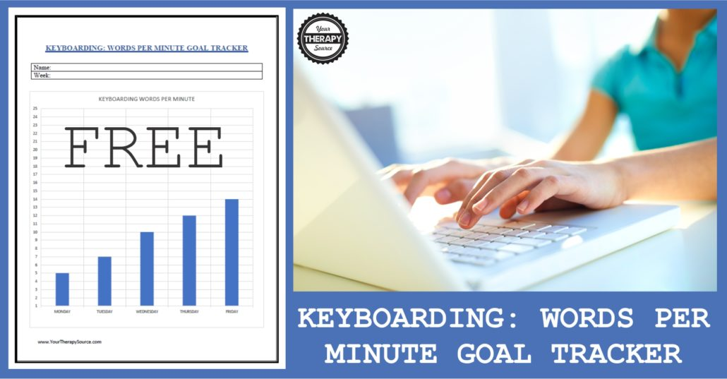 Keyboarding Words Per Minute Goal tracker