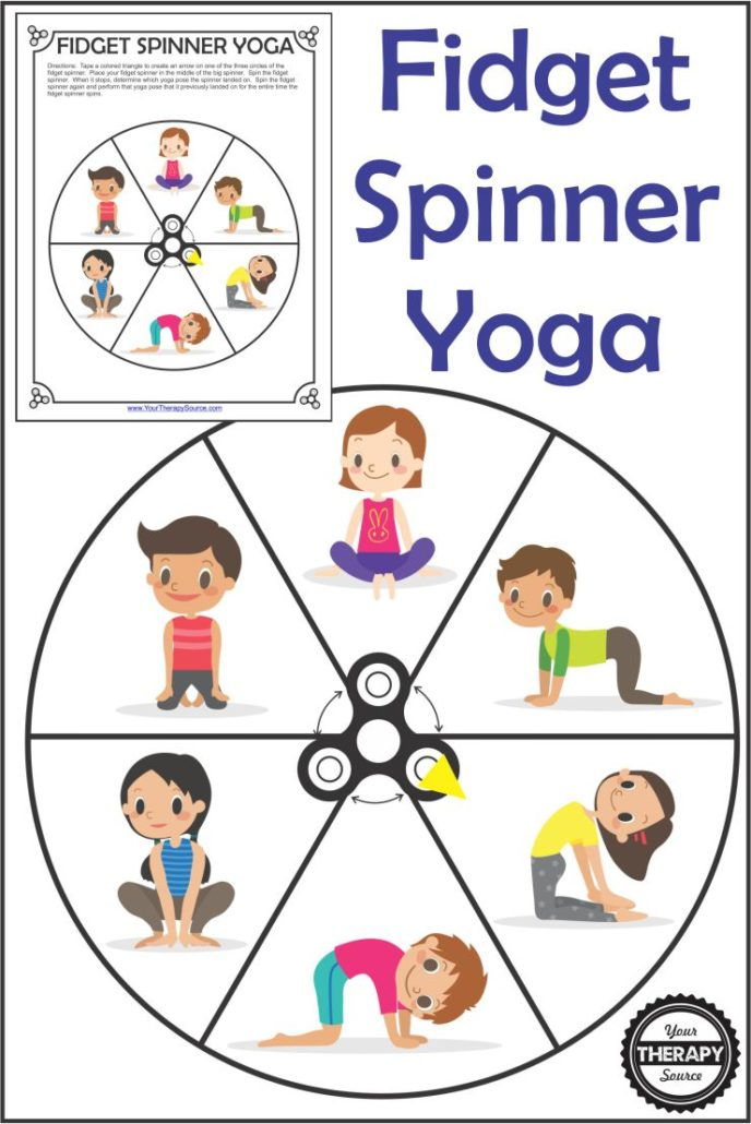 picture relating to Fidget Spinner Printable identify Fidget Spinner Yoga - Free of charge Printable - Your Cure Resource