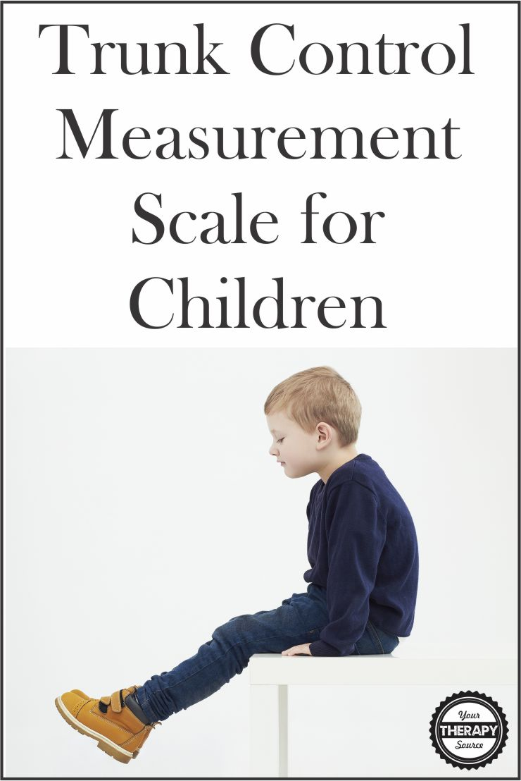 Trunk Control Measurement Scale for Children