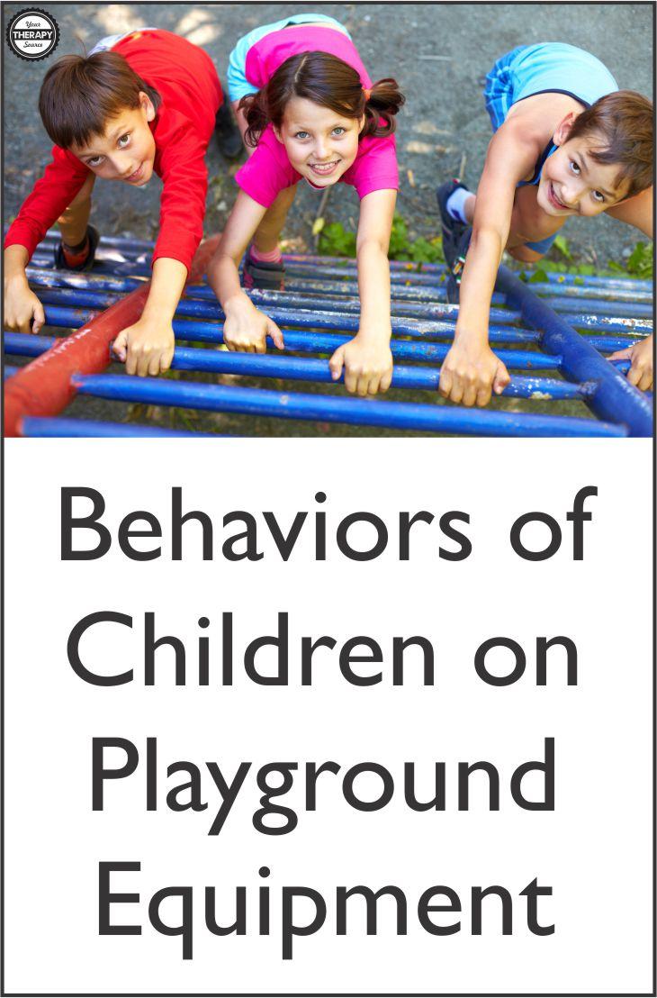 Behaviors of Children on Playground Equipment
