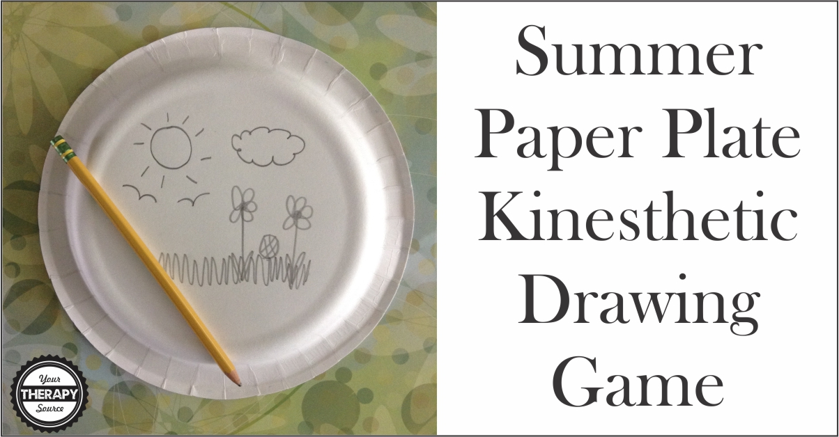Summer Paper Plate Kinesthetic Drawing Game  sc 1 st  Your Therapy Source & Summer Paper Plate Kinesthetic Drawing Game - Your Therapy Source