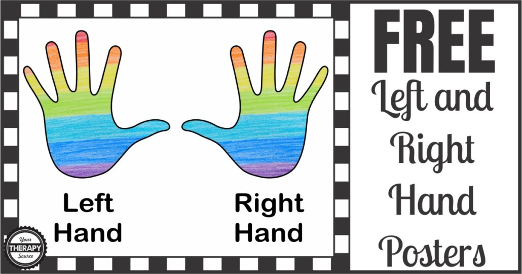 right or left hand poster your therapy source