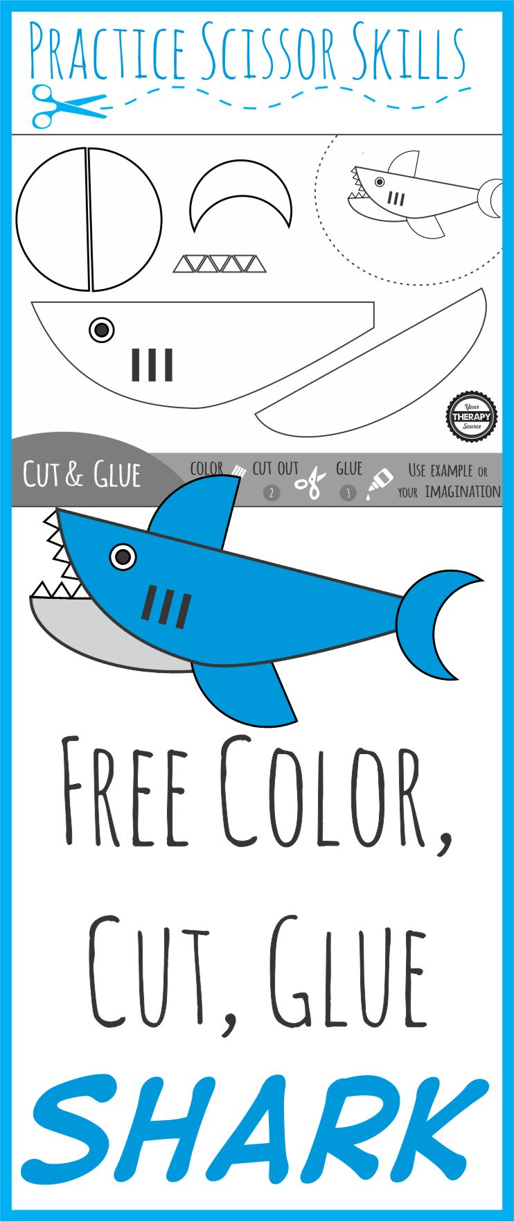 Color Cut Glue Shark