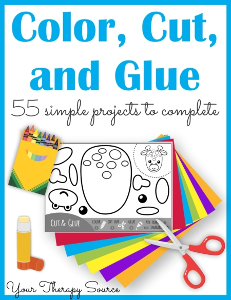 Color, Cut, and Glue Complete Packet from Your Therapy Source