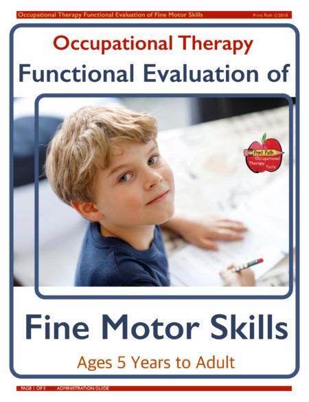 School-based Occupational Therapist Thia Triggs has developed this fine motor skills assessment for occupational therapy titled the Functional Evaluation of Fine Motor Skills.