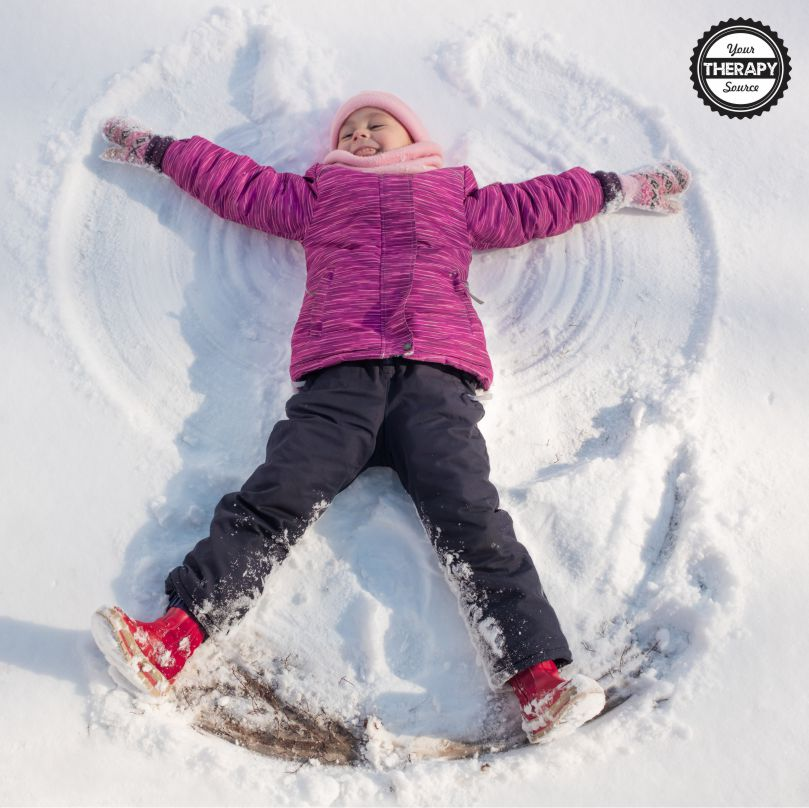 Looking for some ideas for your children to play in the snow? For some areas, the snow is an amazing sensory motor experience right outside your door.